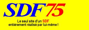 SDF75, le seul site d'un SDF réalisé par lui-même