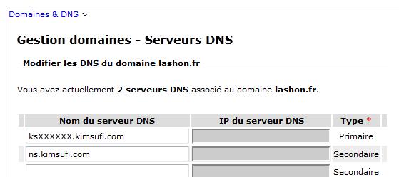 DNS Kimsufi OVH