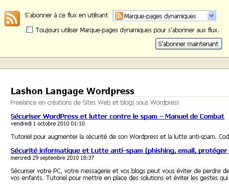 Flux en mode XML