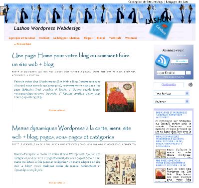 Un thème WP par défaut pour Lashon WordPress
